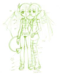 oniko and tenshiko
