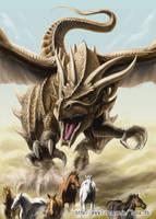 Desert dragon by LusiaNanami
