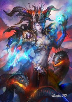 Dark female demon