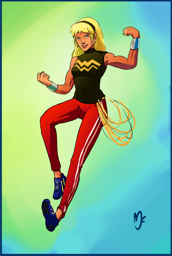 Young Justice: Wonder Girl redesign by Jeanbiscuit on