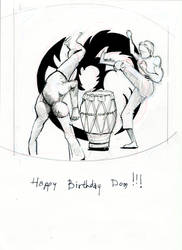 capoeira birthday card