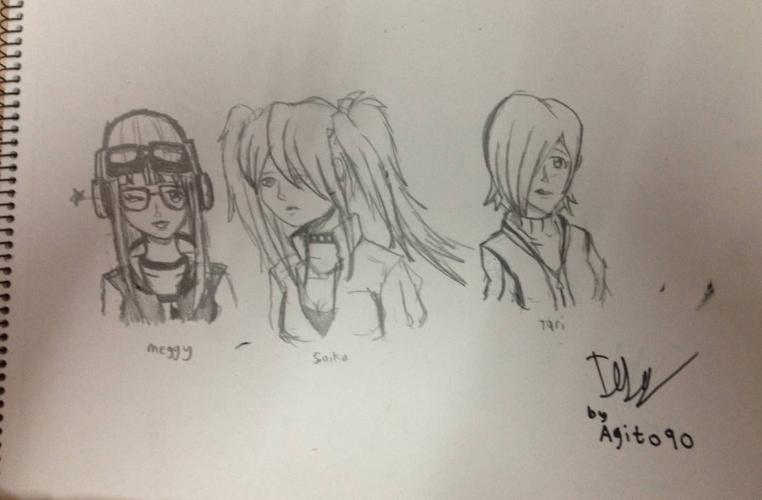 Smg4s girls sketches by masteragito90