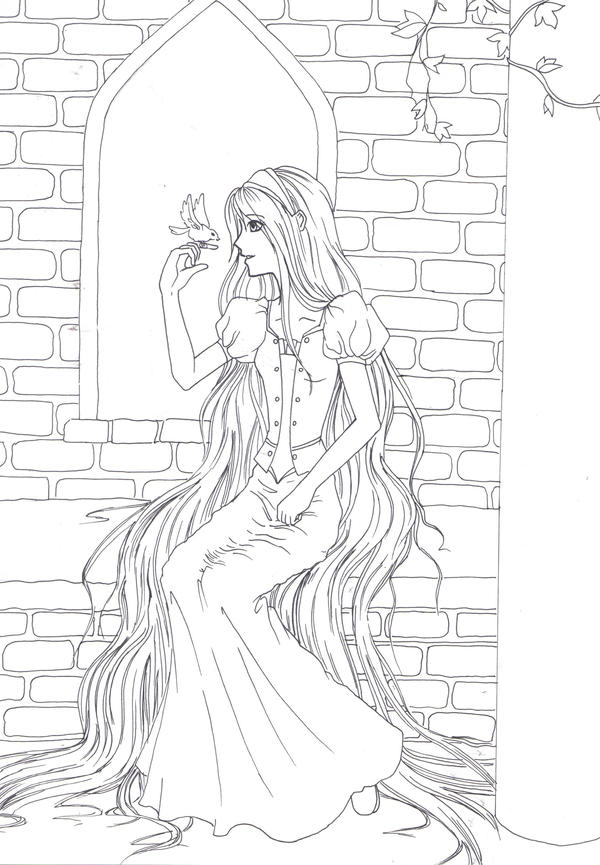 Rapunzel Lineart : Rapunzel lineart by star dreamer on deviantart