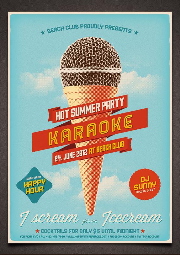 Vintage Karaoke Poster Psd Template By Moodboy On Deviantart