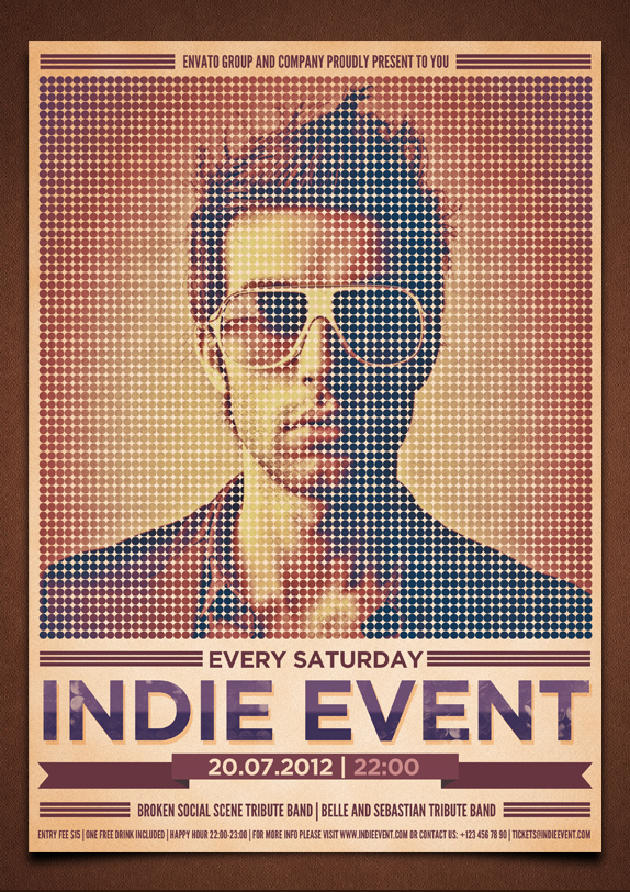 Indie event flyerposter psd template by moodboy on deviantart indie event flyerposter psd template by moodboy pronofoot35fo Images