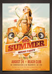 Big Summer Party Poster PSD Template