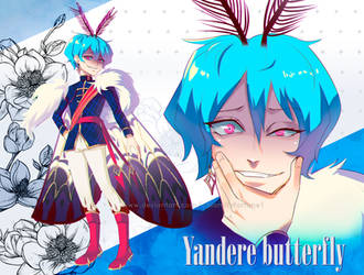 [CLOSE] Auction Adoptable - Yandere butterfly by calamityfortune1