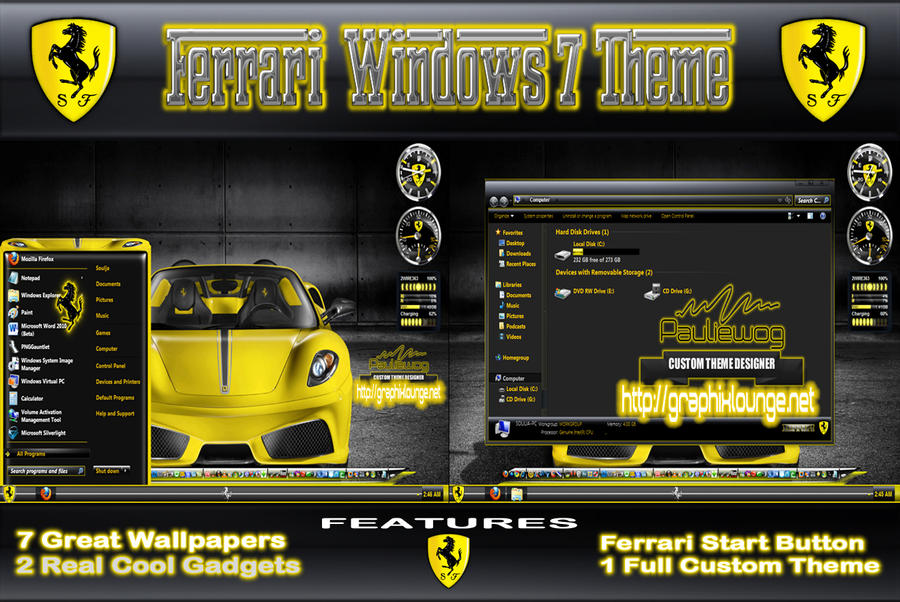 Ferrari Windows 7 Theme