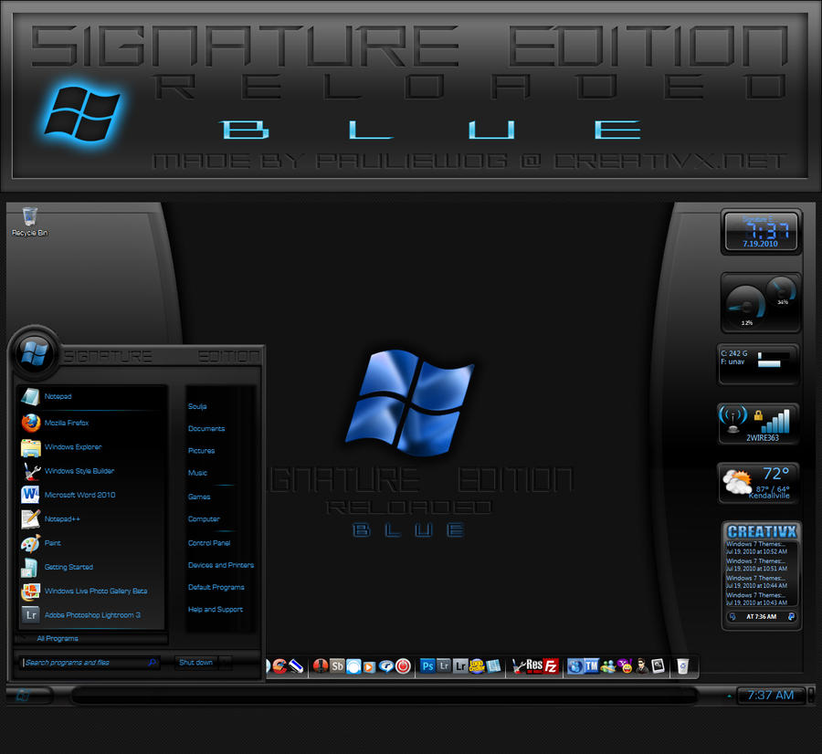 Signature Edition Reloaded Blu by pauliewog260