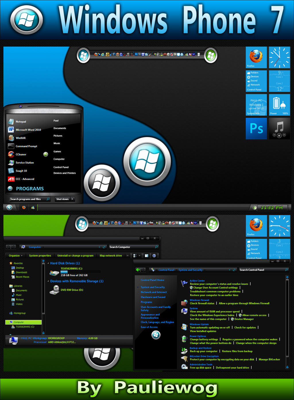 Windows Phone 7 Theme by pauliewog260