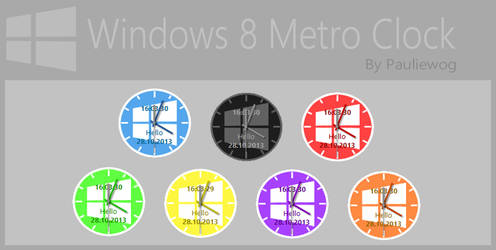 Windows 8 Metro Clock