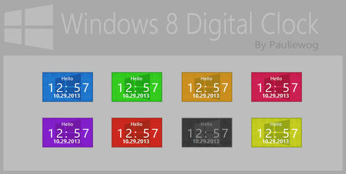 Windows 8 Digital Clock
