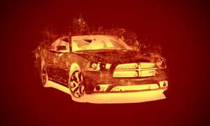 THE BURNING CAR by kaku50xyz