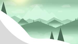 Mountain Snow by kaku50xyz