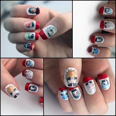 Akatsuki nails by ViivaVanity