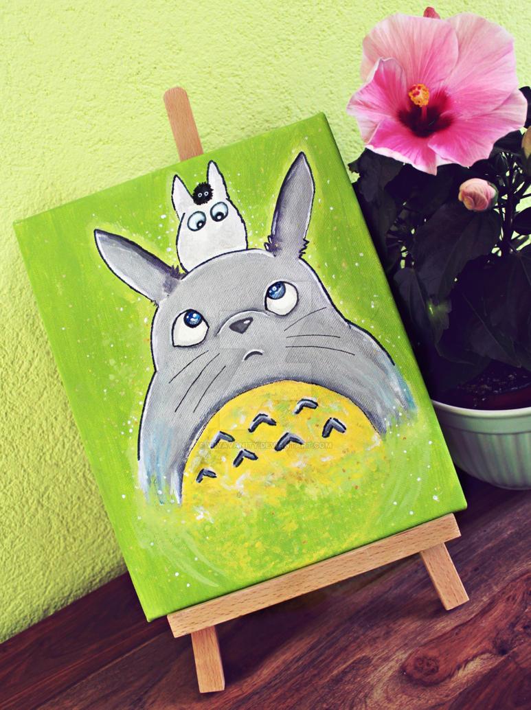 Totoro painting by ViivaVanity