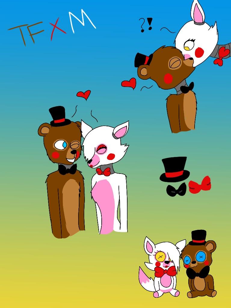 Toy Freddy x Mangle by Pinkwolfly
