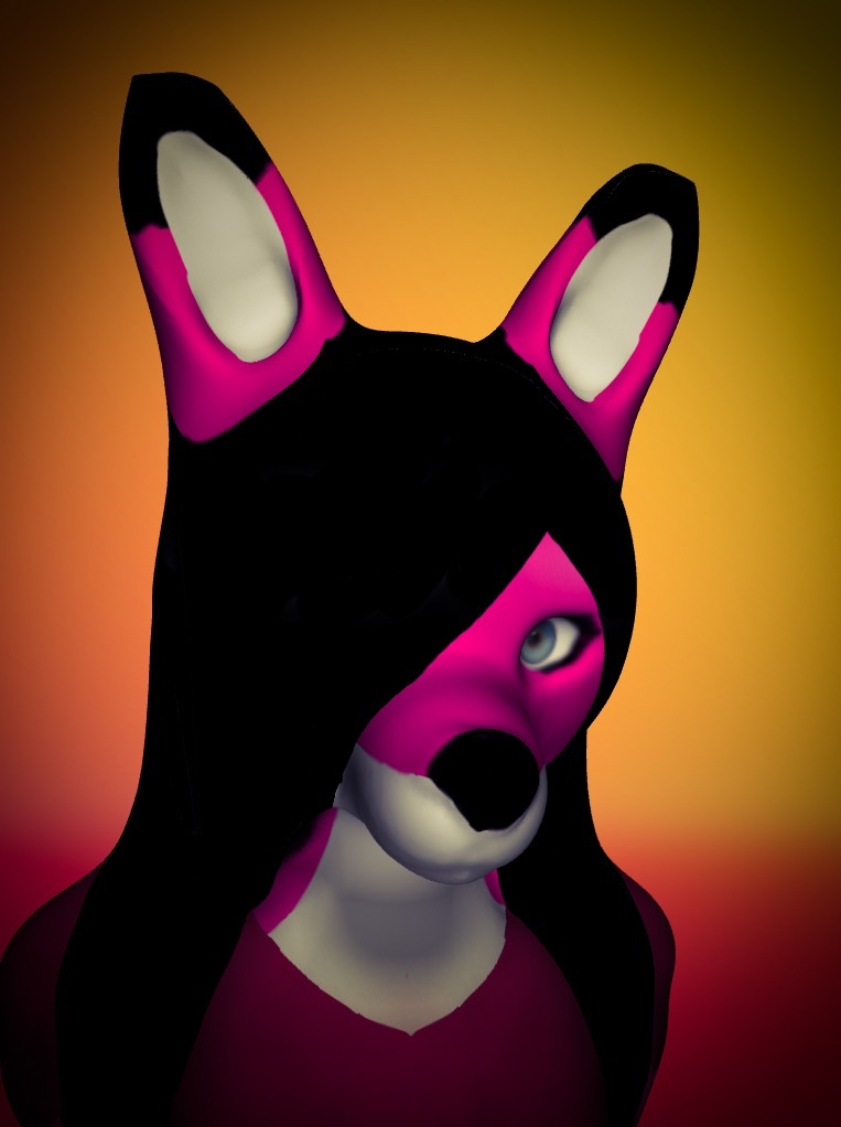 Tiffany the fox by Pinkwolfly