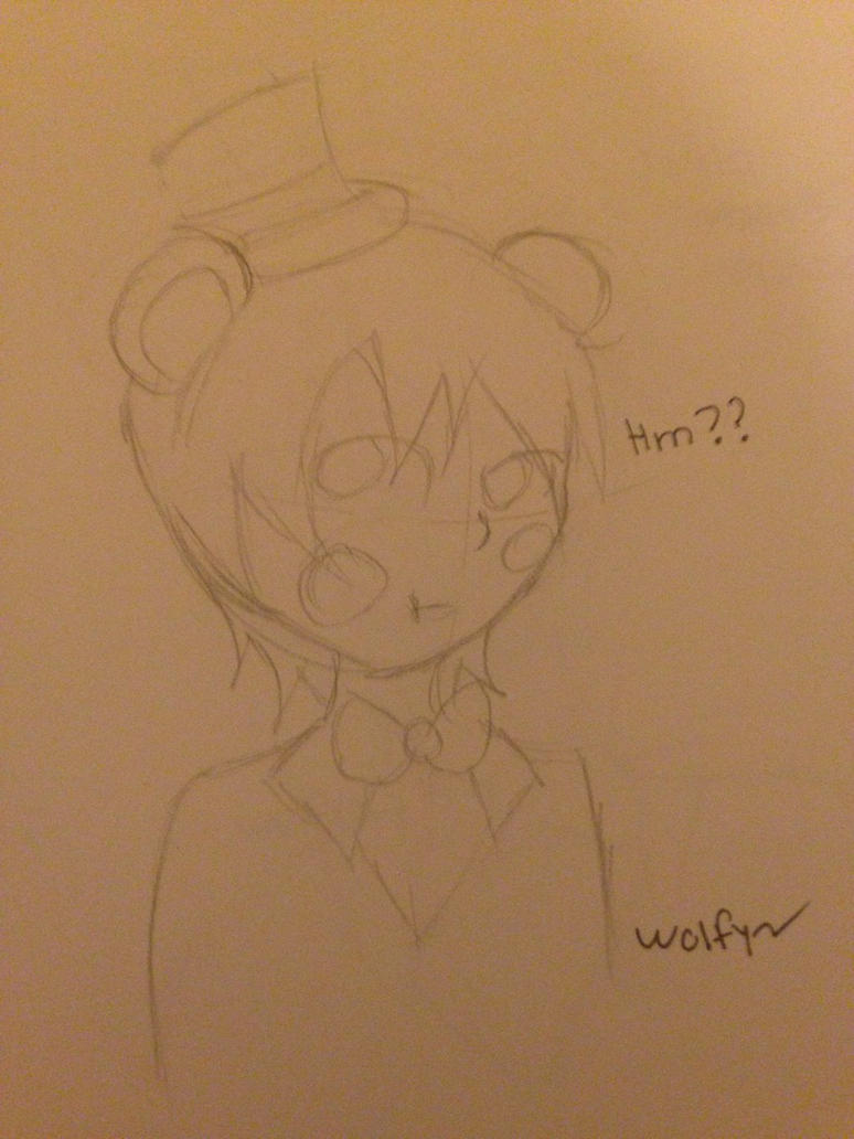 Toy Freddy as human  by Pinkwolfly
