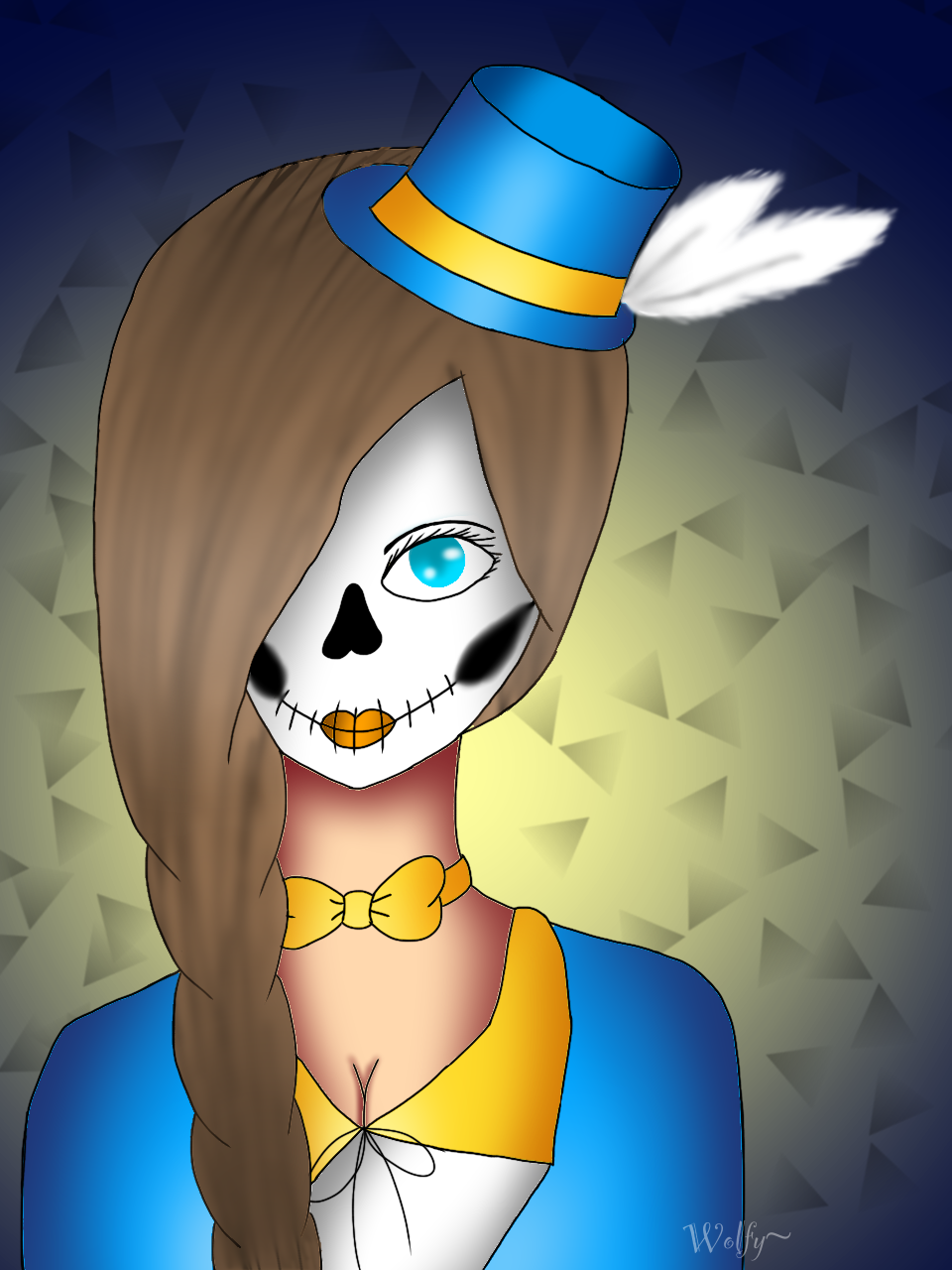 Candy skull by Pinkwolfly