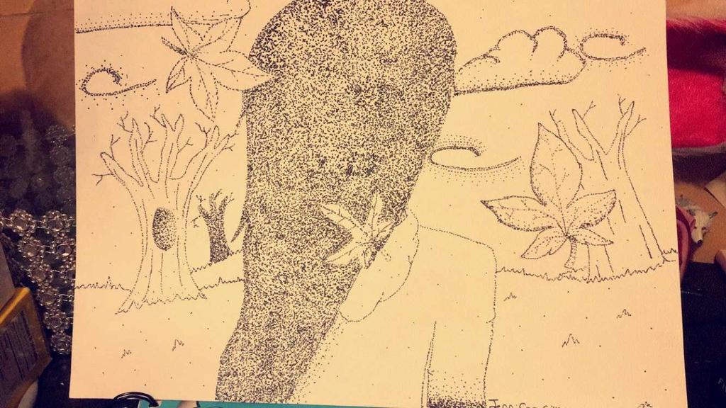 Falling leaves  by Pinkwolfly