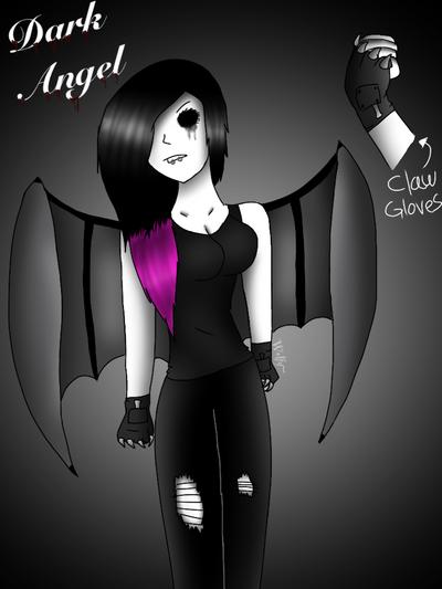 Dark angel  by Pinkwolfly