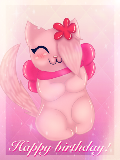 Happy birthday! by Pinkwolfly
