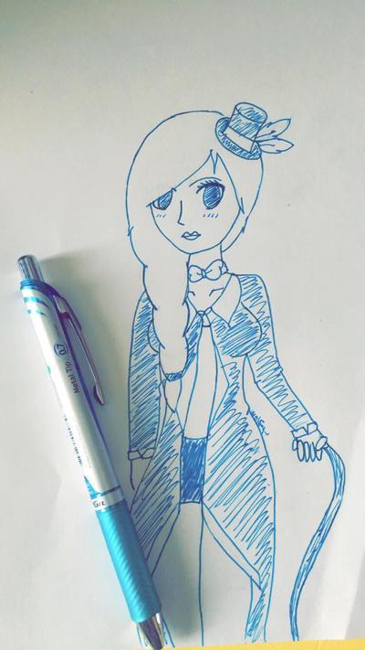 Blue Pen by Pinkwolfly