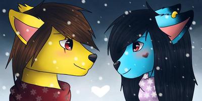 Winter love by Pinkwolfly