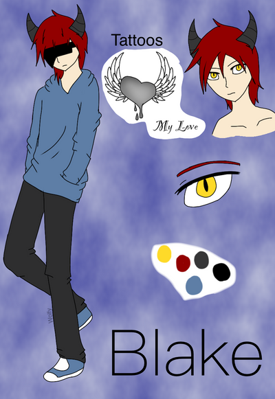 Anime oc-Blake by Pinkwolfly