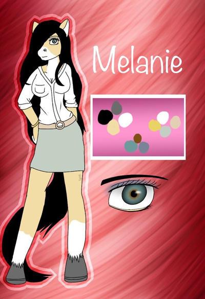 Furry oc-Melanie  by Pinkwolfly