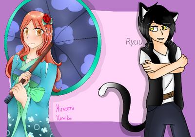 Collab-Hinami yumiko and Ryuu by Pinkwolfly