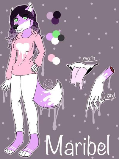 Furry Oc-Maribel  by Pinkwolfly