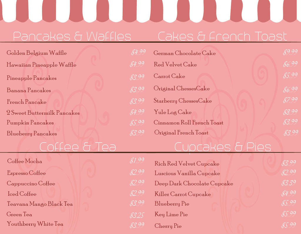 Menu Design inside by Pinkwolfly