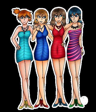 PC-Pokemon girls night out by Pinkwolfly