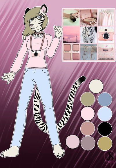 Moodboard adopt Closed-Pink Tiger Photographer by Pinkwolfly