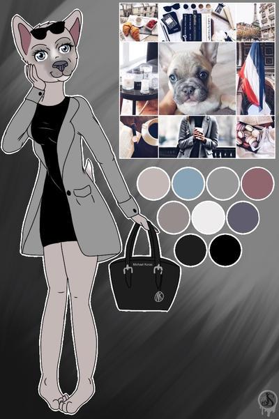French Bulldog by Pinkwolfly
