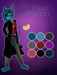 Vanessa Harwood-Ref sheet by Pinkwolfly