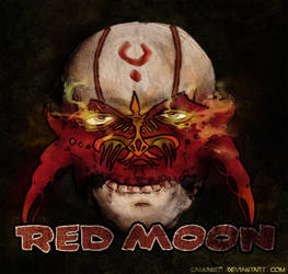 Red moon Mask
