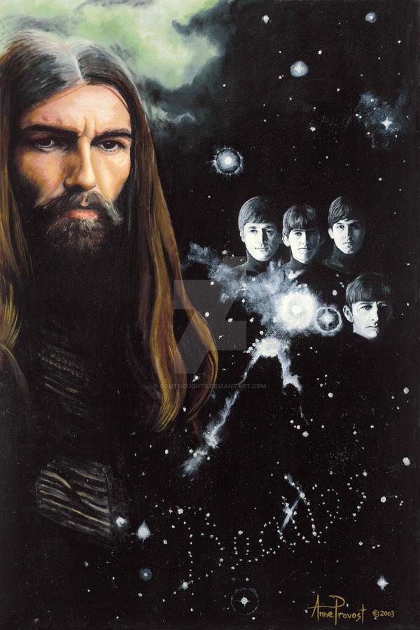 George Harrison oil portrait