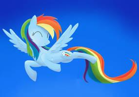 Rainbow Dash - Draw Again by Pingwinka9