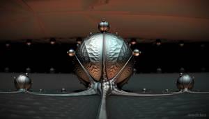 Alien Pod 3D Fractal Arts