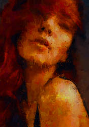 redhair woman art by Art-Curator
