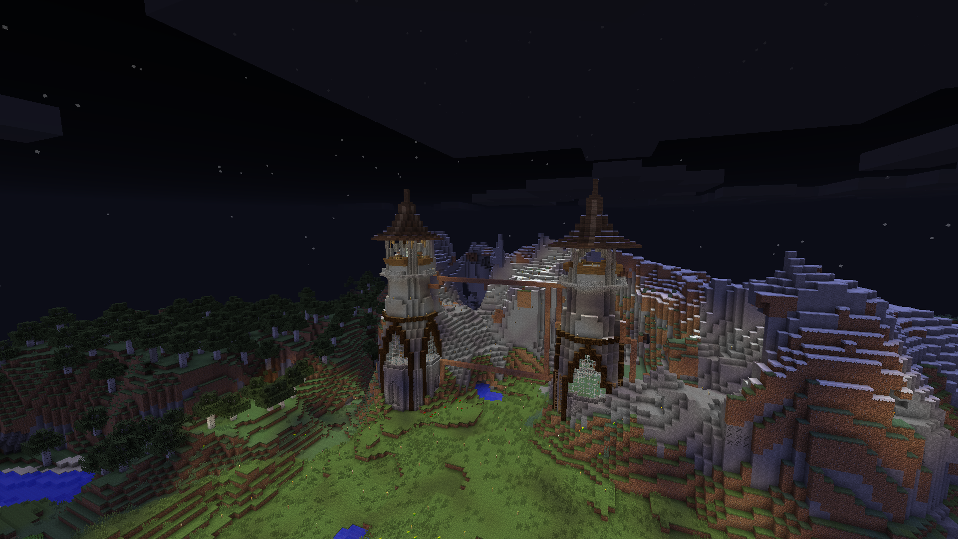 Minecraft Mountain Castle by eapatrick on DeviantArt