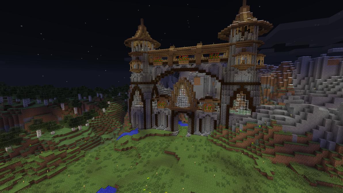 Minecraft Mountain Castle (progress 3) by eapatrick on ...