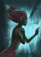 Mermaid in the pool by Marshal-Niko