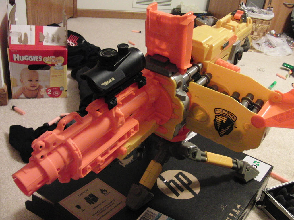 Modified nerf guns