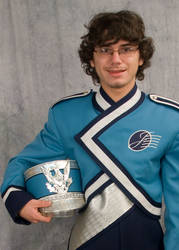 Senior Pictures 2012: Band of Blue Uniform