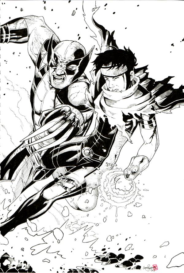 Wolverine vs Wiccan by IceFennek