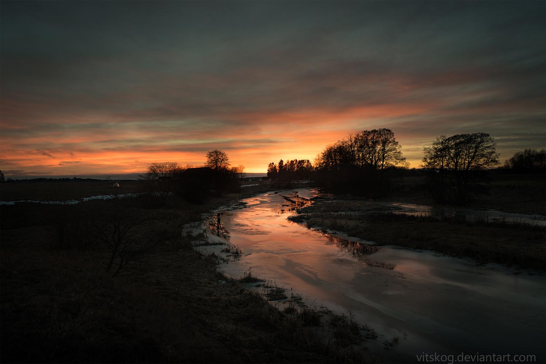 Fyris river in February II by Vitskog